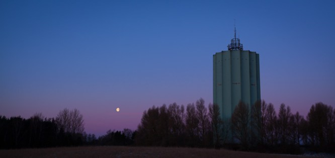Water Tower and Moon