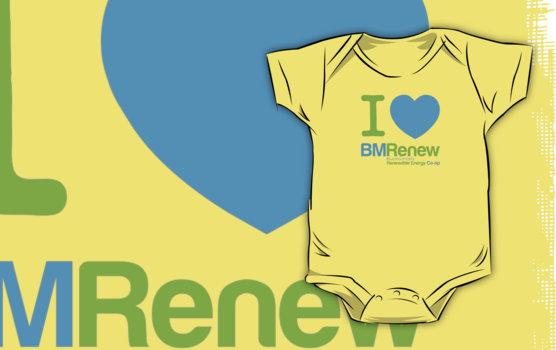I ♥ BMRenew baby onesie