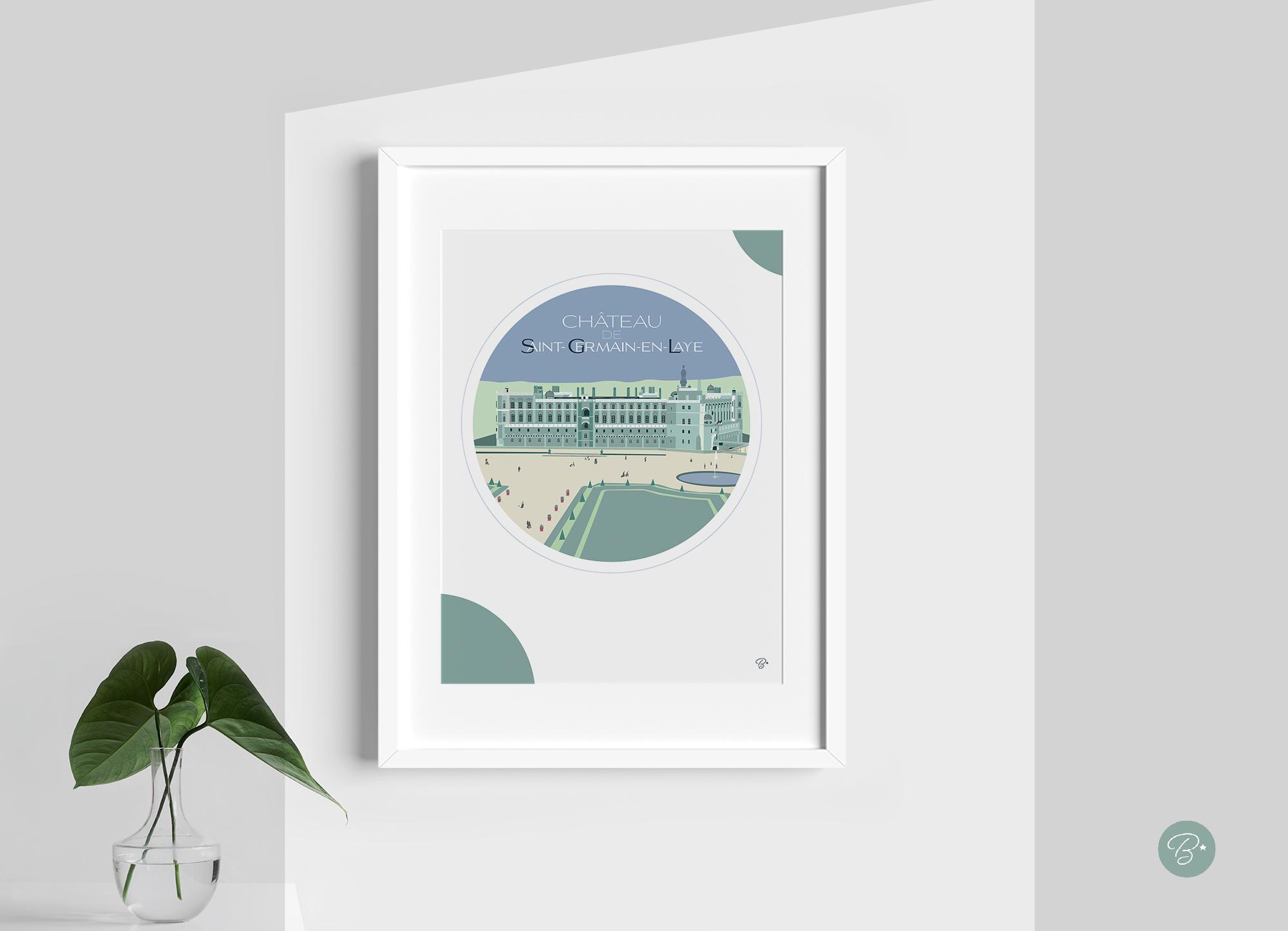 Château Vert cadre blanc et passe-partout