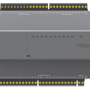 https://bmsparts.co.uk - NRIO module with 16 Universal Inputs, 10 Relay Outputs, 8 Analog Outputs.