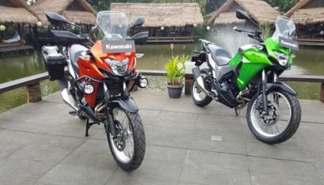 Yang Hijau Versys X 250 versi STD dan orange Versys 250 versi Tourer
