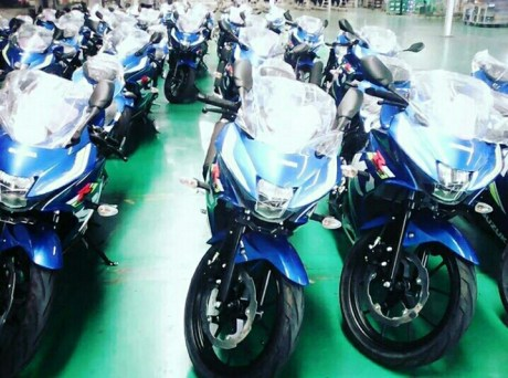 Mass production GSX-R150 2017 Model