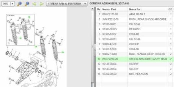 harga-Sok-Tabung-Yamaha-Aerox-155-R-Version
