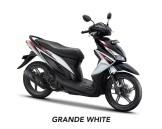 All New Honda Vario 110 Terbaru 2018 warna Grande White/Putih-Hitam Striping Merah