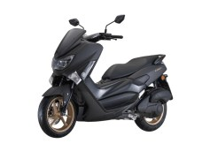 NMAX 155 Facelift 2018 Black Matte Side Front View