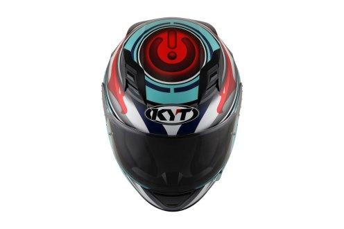 Tampak Depan KYT R10 Flat Visor Circuit Edition
