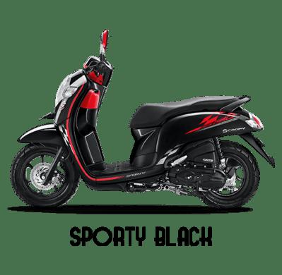 Gambar : Scoopy 2018 Sporty Black/ Hitam/Merah