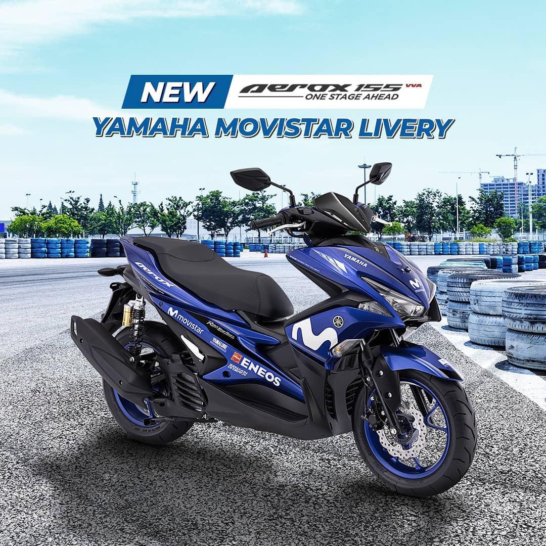 Harga Yamaha Aerox Tipe R Movistar 2018 Spesifikasi Fitur