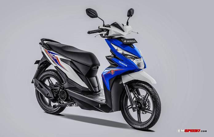Honda BeAT 2019 CBS Warna Biru Putih