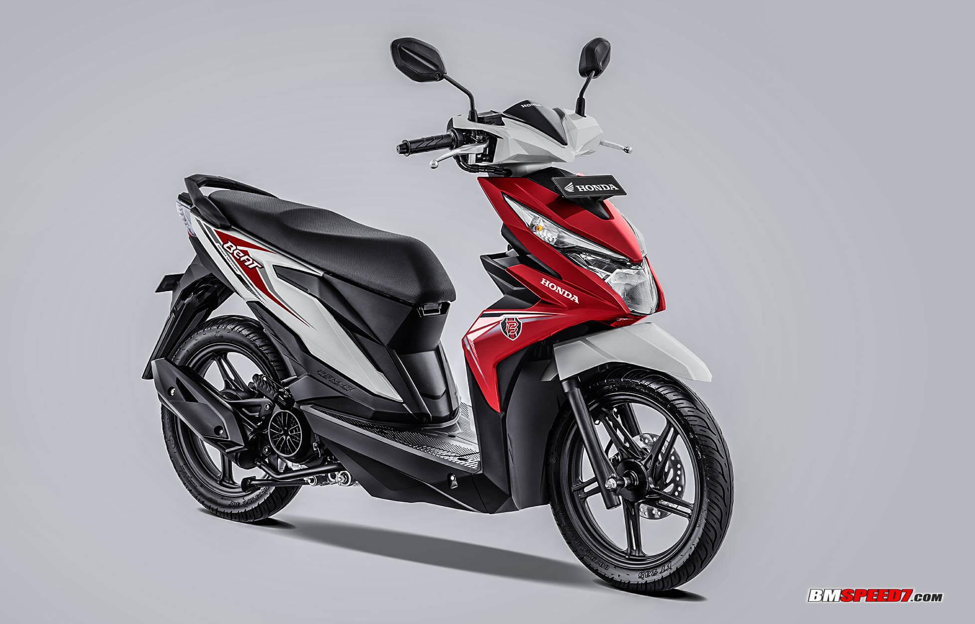 Honda BeAT 2019 CBS Warna Merah Putih