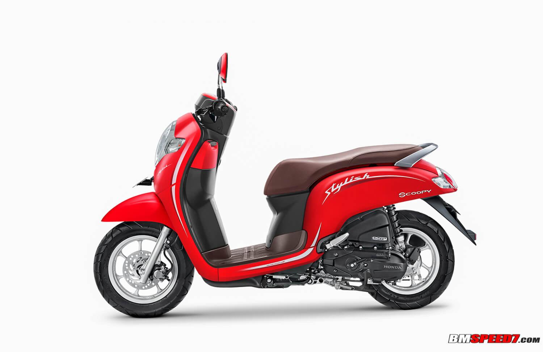 Honda Scoopy 2019 Stylish Merah Doff