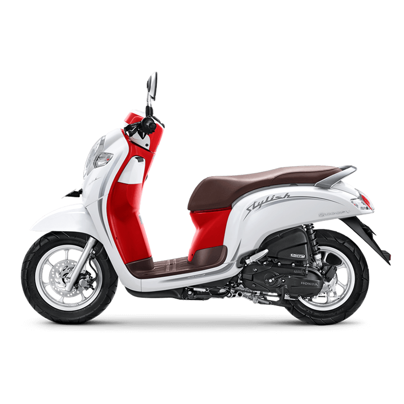 Honda Scoopy Stylish White Red