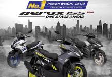 Power Weight Ratio Aerox 155