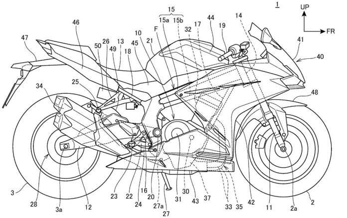 Gambar Paten Honda CBR250RR
