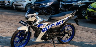 Suzuki All New Satria FU 2020 White Blue