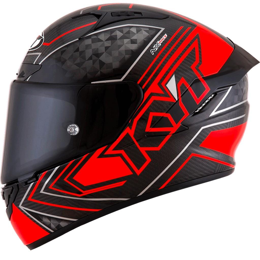 KYT NX Race Carbon Merah