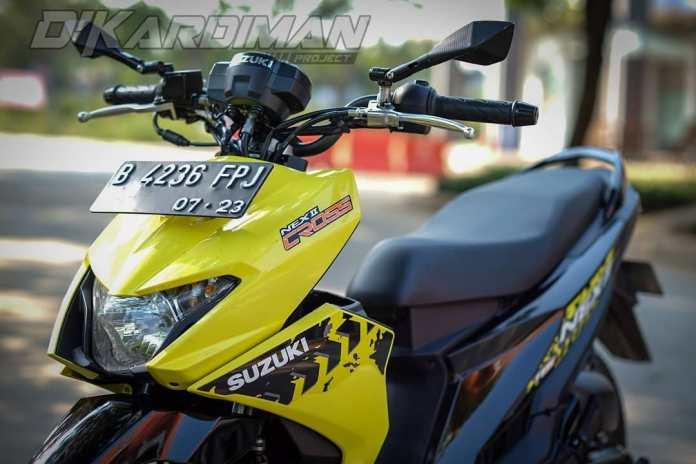 Modifikasi Suzuki Nex II Cross Version Pakai Stang BeAT Street, Speedometer X-Ride