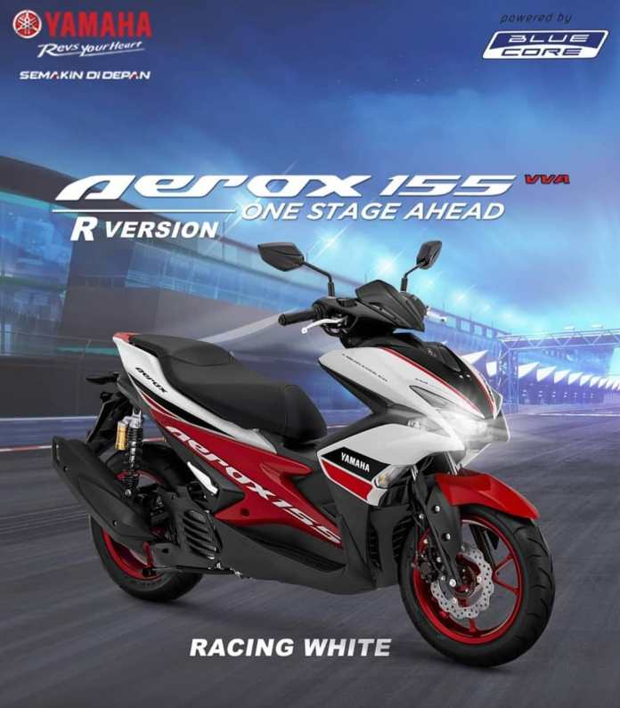 Yamaha Aerox 155 R Version Racing White