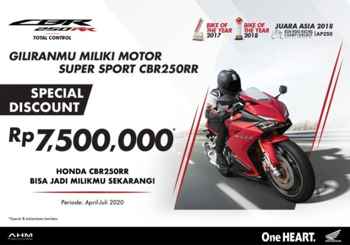 Diskon Honda CBR250RR April Juli 2020