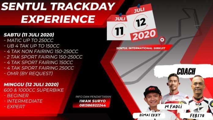Kelas Sentul Trackday Experience 2020.