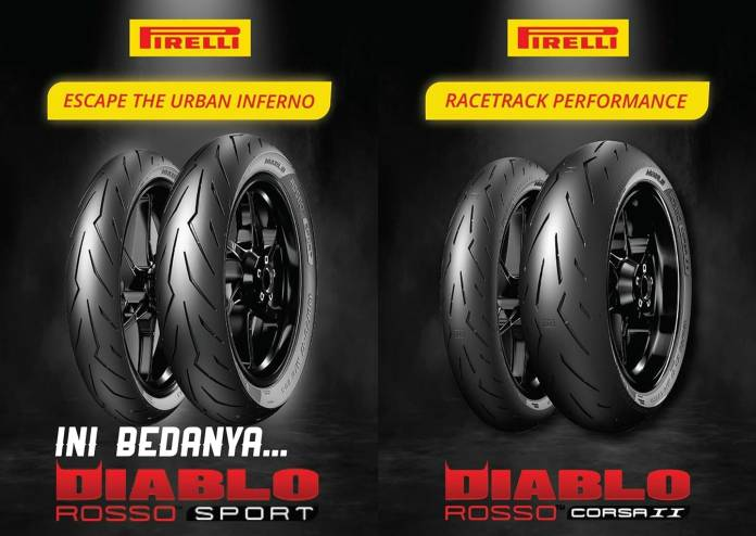 Beda Ban Pirelli Diablo Rosso Sport dan Corsa II