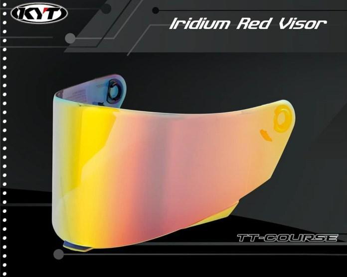 Harga Flat Visor KYT TT Course Iridium Red