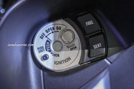 Key shuter magnet Yamaha Aerox 155 Hitam tipe standart