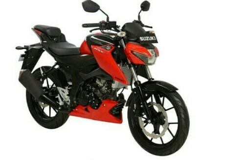 New Suzuki GSX-S150 warna merah strip hitam