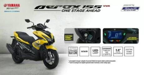 Yamaha Aerox 155 Tipe standart beserta feature