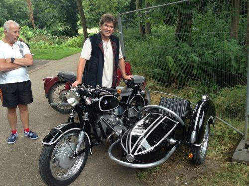 Liam with R60 and Steib Sidecar