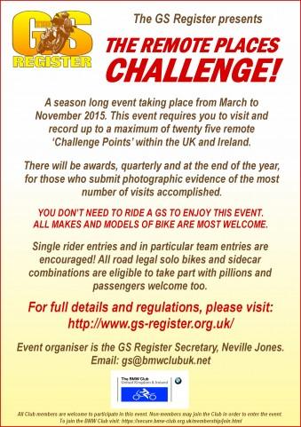 GS Remote Places Challenge A5 flyer artwork