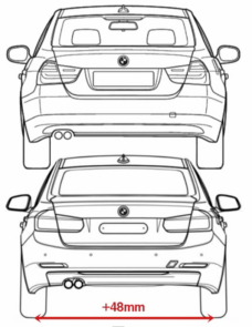 bmw dimensioni f30 vs e90 posteriore