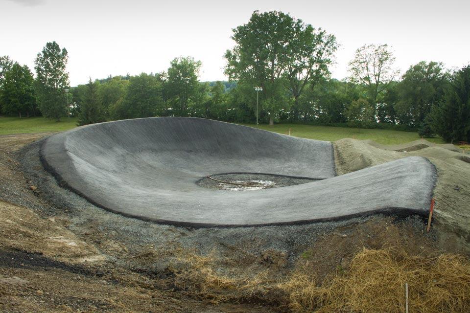 trosième courbe piste BMX Drummondville parc des voltigeurs