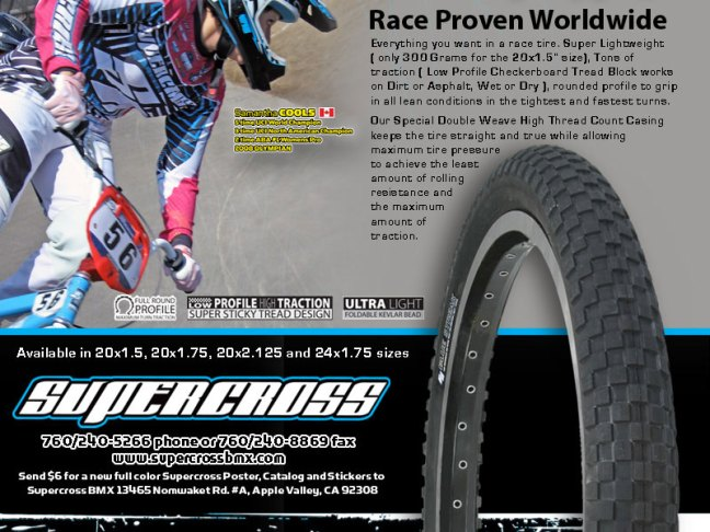 Supercross BMX Blue Streak BMX tires