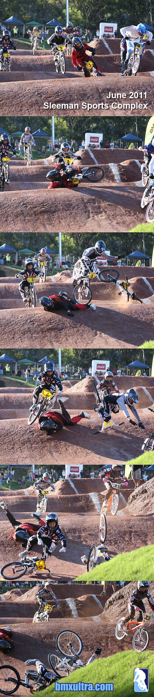 Sleeman opening crash sequence