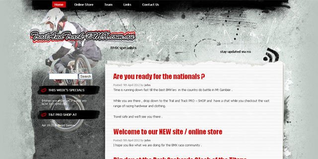 Trail and Track website