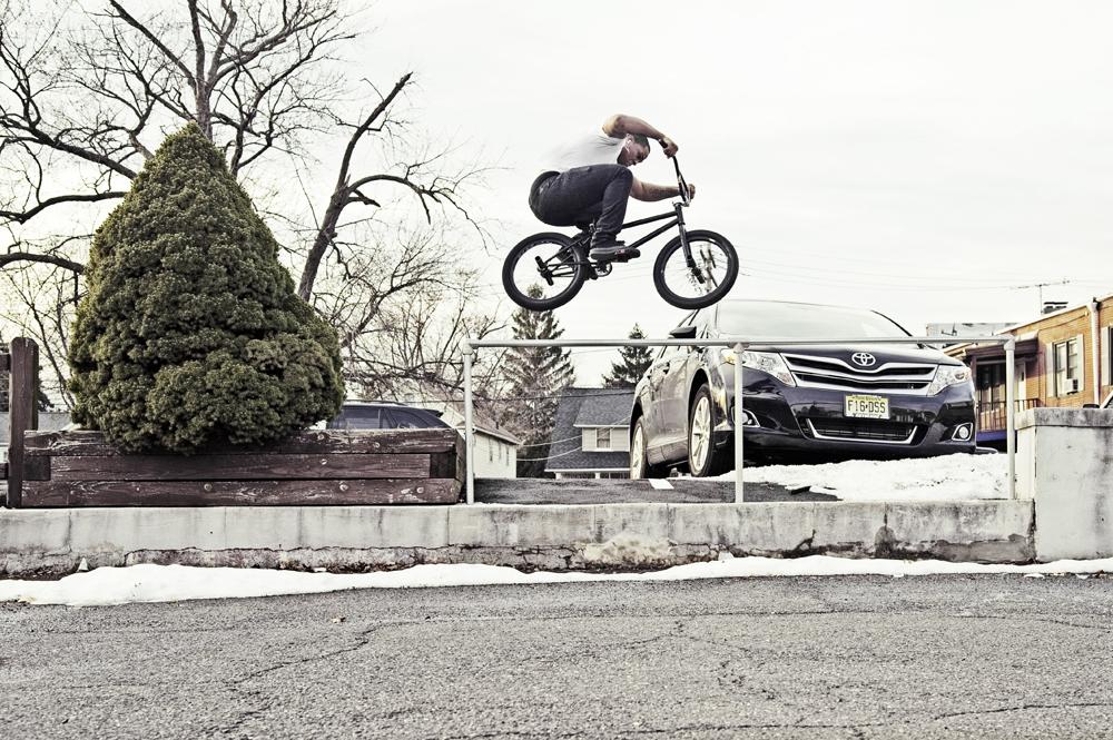 BMX rail hop