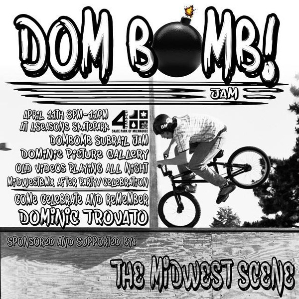 "Dominic Trovato Memorial ""Dom Bomb"" Jam Flyer"