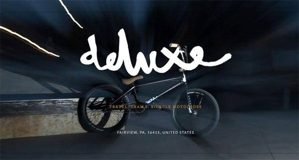 New Deluxe BMX Website