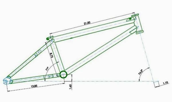BMX Frame Geometry