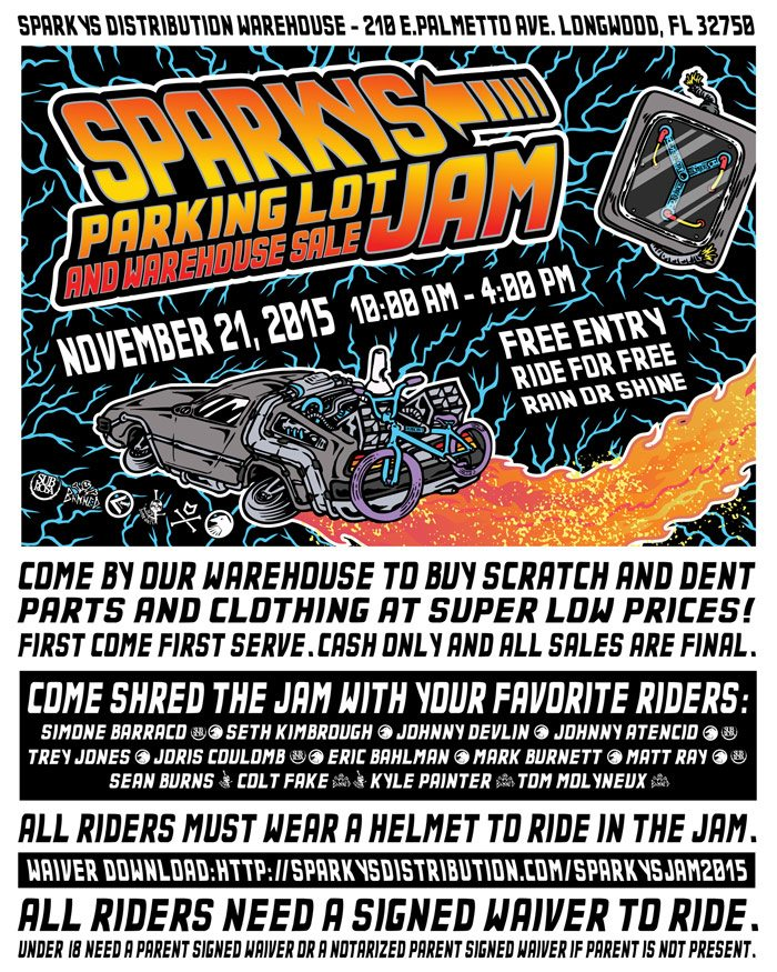 Sparky's Distribution 2015 Warehouse Jam Flyer
