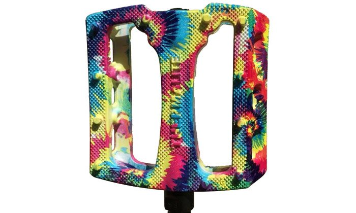 Product: Stolen BMX – Tie Dye Thermalite Pedals