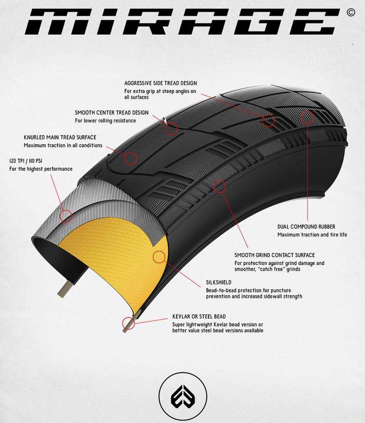 Eclat BMX Mirage Tire Drawing