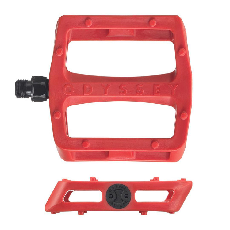 Odyssey BMX Grandstand Pedals Red Plastic