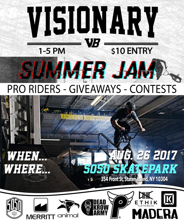 Visionary Summer Jam 5050 Skatepark BMX
