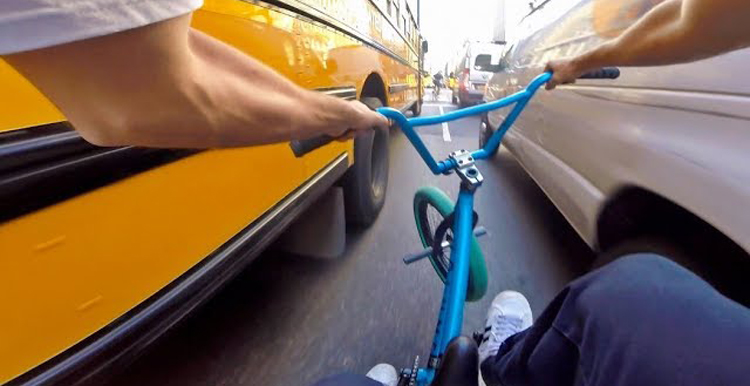 Billy Perry – BMX In New York City Rush Hour Traffic