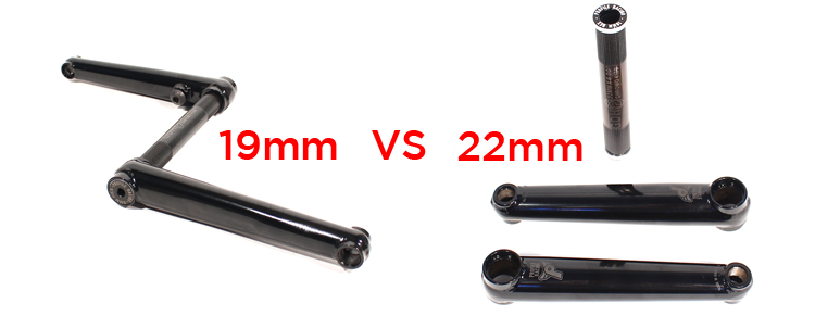 Profile Racing 19mm VS 22mm BMX Cranks