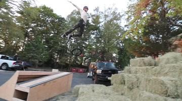 Scotty Cranmer Launching Into 100 Bails of Hay BMX video Big Boy