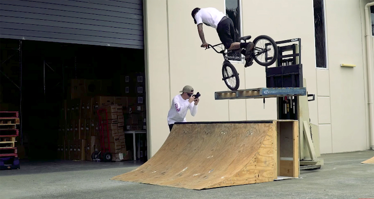 Colony BMX Warehouse Session Clint Millar and Polly