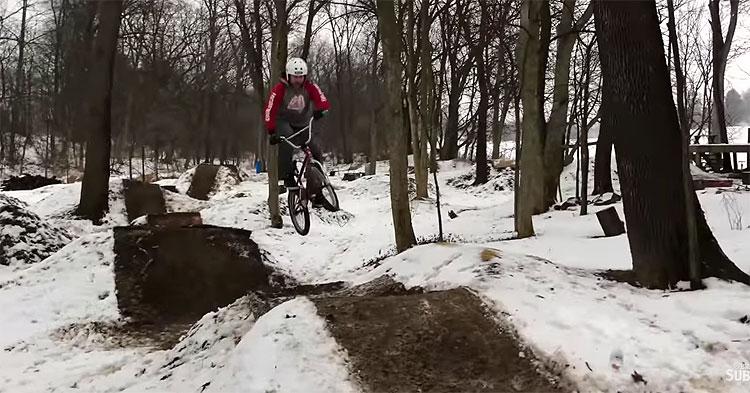 Brant Moore Winter Trails BMX video